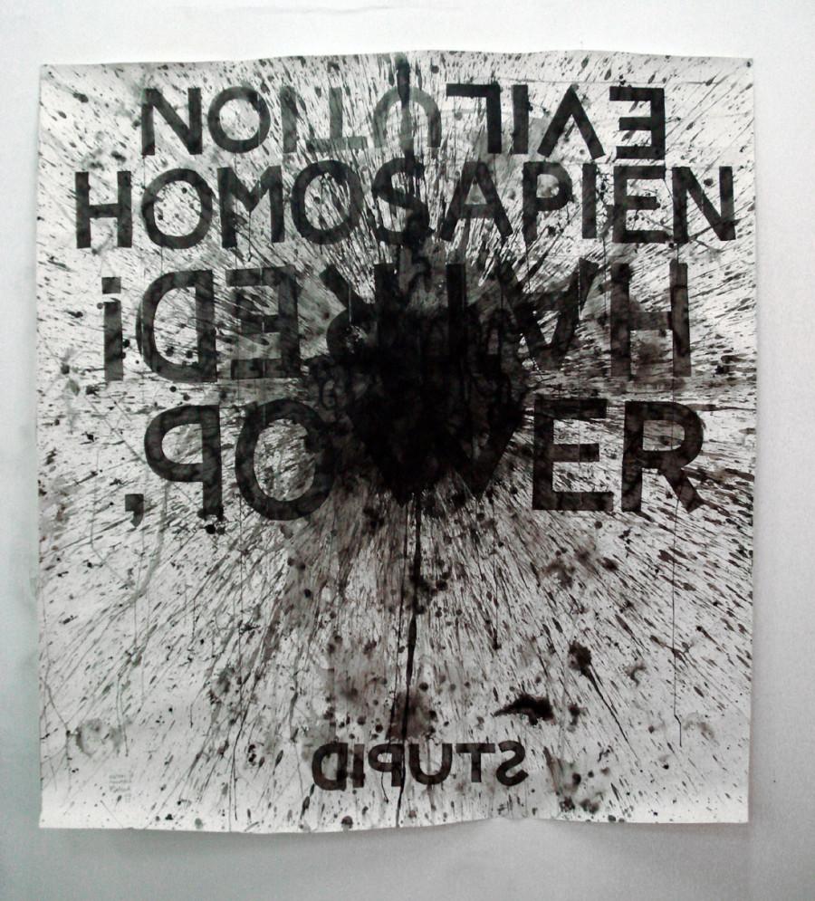 tinta china y goma sobre papel  160 x 180 cm D.Ruanova 2011